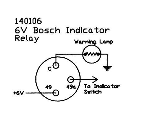 indicator relay 6v bosch