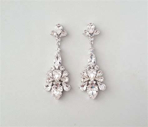 wedding earrings chandelier earrings gatsby earrings