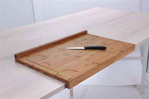 plan de travail bar cuisine planche de travail en bambou grand modèle avec rebord tom press