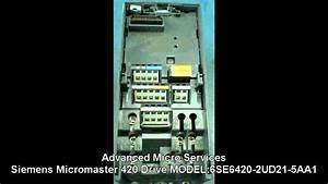 Siemens Micromaster 420 Drive 6se6420