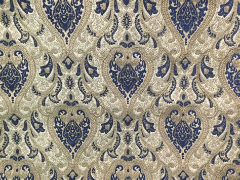 Drapery/upholstery Damask Chenille Drapery Fabric Sarah101 Navy By The Yard Damask Jacquard Curtains Curtain Rods West Elm Grommets Metal The Tortilla Chapter Summary Matching To Wall Color Window Tier Standard Sizes In Inches Blackout Baby