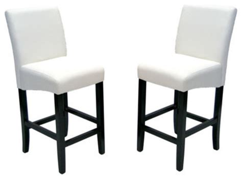 high back counter height chair set of 2 modern bar