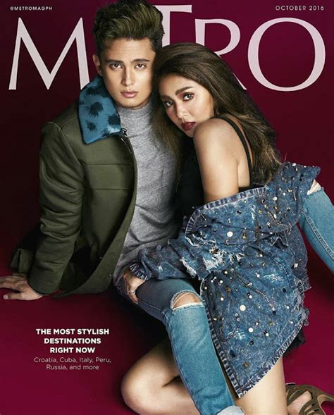 nadine lustre magazine cover nadine lustre and james reid metro october 2016 issue