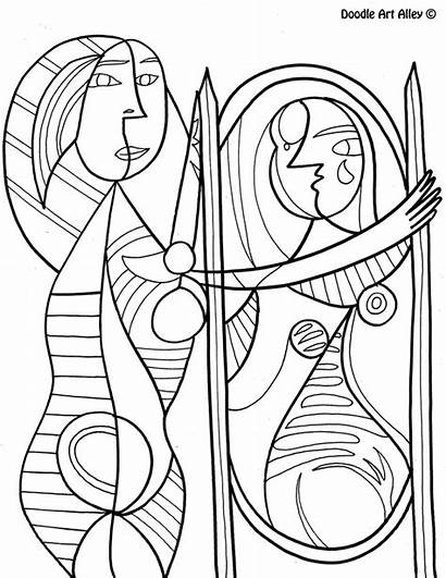 Mirror Famous Coloring Picasso Pablo Before Classroom