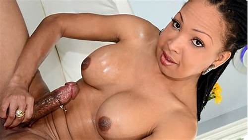 This Wild Young Hottie Masturbates With A Plaything #Black #Shemale #Idol #2