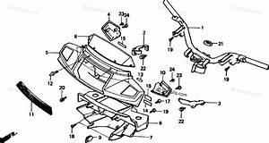 Honda Scooter 1990 Oem Parts Diagram For Handlebar