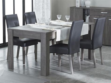 chaise pour table a manger chaise de salle à manger en polyuréthane et bois lot de 2