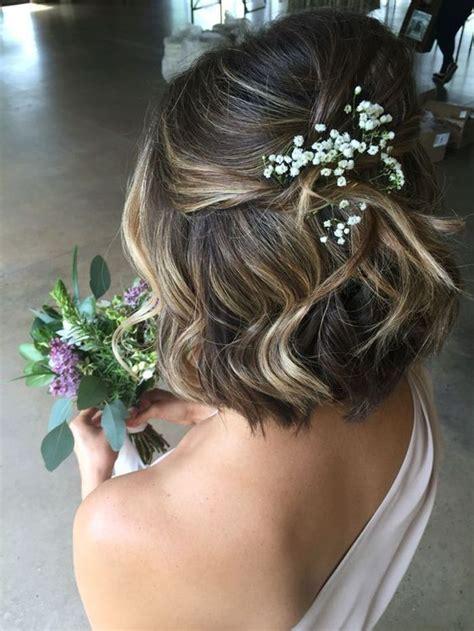 coiffure de mariee pour carre court les  jolies