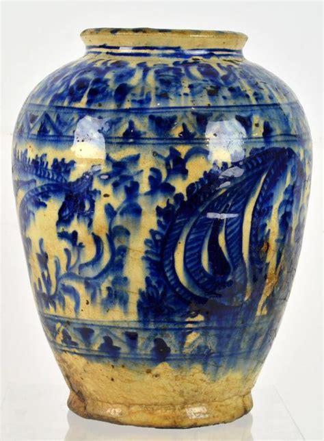 rare islamic mamluk period  century  syrian blue