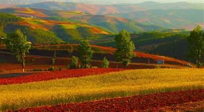 Yunnan Dongchuan China Cina Country Lands Sunset