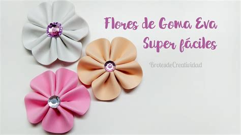 DIY Flores de Goma Eva / Foamy Fáciles y SIN MOLDES