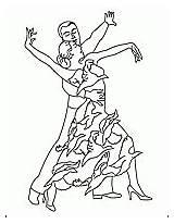 Coloring Dancing Ballroom Dance Template sketch template