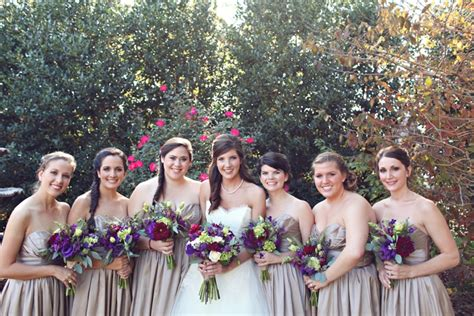 A Fall Purple And Champagne Alabama Wedding