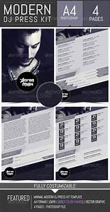 dj and musician press kit resume template by dogmadesign With dj press kit template free