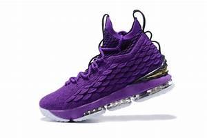 2017 Nike LeBron 15 Purple and Metalic Gold For Sale ...