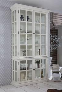 Shabby Chic Möbel Weiß : vitrinenschrank vitrine wei landhausstil shabby chic mediterraner impressionen in m bel ~ Markanthonyermac.com Haus und Dekorationen