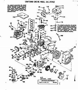 Craftsman Model 143707012 Engine Genuine Parts