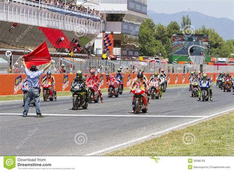 moto gp starting grid editorial stock photo image