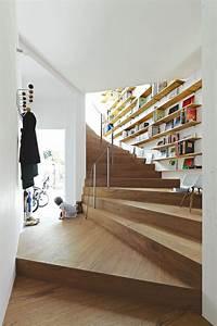 Bibliothèque Design Bois : biblioth que murale design gain d 39 espace et esth tique ~ Teatrodelosmanantiales.com Idées de Décoration