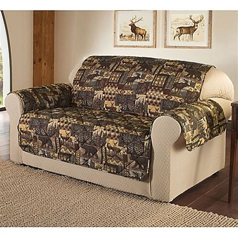 Brown Loveseat Cover by Lodge Loveseat Cover In Brown Bed Bath Beyond