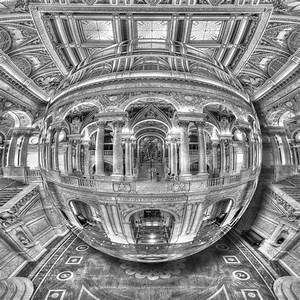 Ode To Mc Escher Library Of Congress Orb Painting by Tony