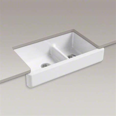 two kitchen sink kohler k 6426 whitehaven apron front kitchen sink with 6426