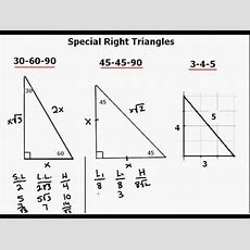 Special Right Triangle Explanation Youtube