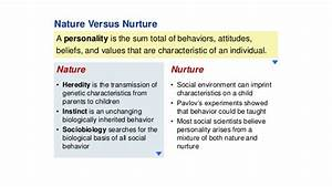 characteristics of nature and nurture