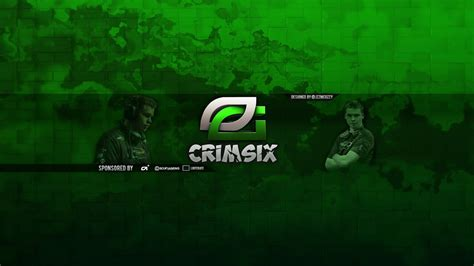 optic crimsix youtube banner speedart youtube