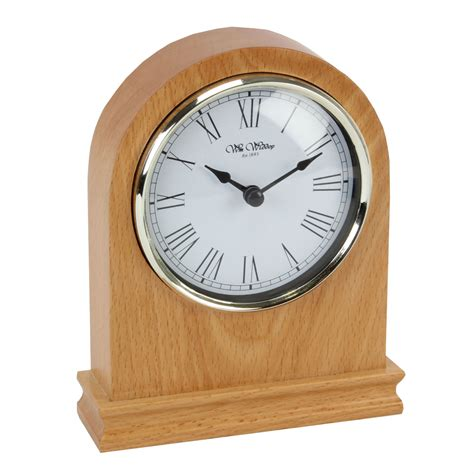 wmwiddop arched light wood mantel clock