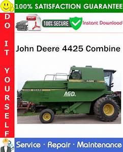 John Deere 4425 Combine Service Repair Manual Pdf Download