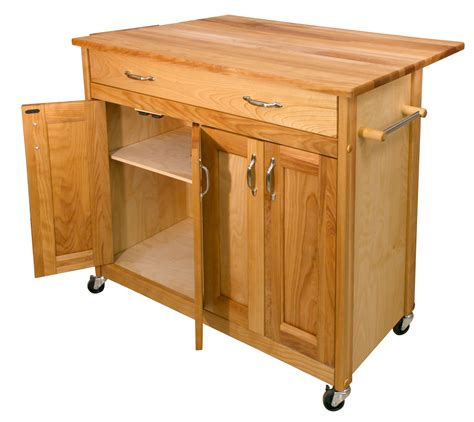 catskill mid sized kitchen island cart  drop leaf