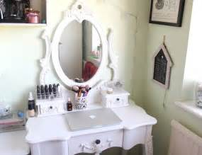 attractive white oval mirror and unique white makeup dressing tables as antique vanities in