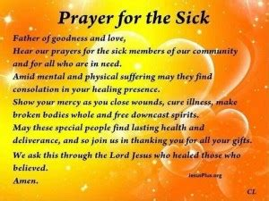 prayers  healing  sick quotes quotesgram