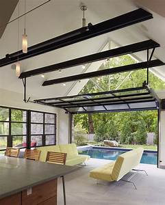 Garage patio designs living room contemporary with pool