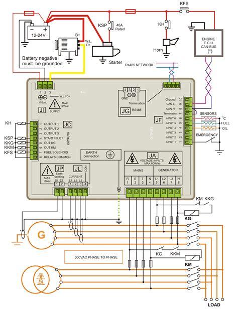 amf panel circuit diagram pdf genset controller