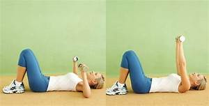 monday workout womans beginner workout the psychology With dumbell press on floor