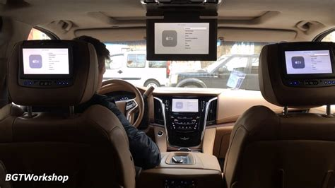 cadillac escalade   gen apple tv iphone mirrorlink