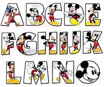 mickey alphabet more s...Mickey Mouse Coloring Letters