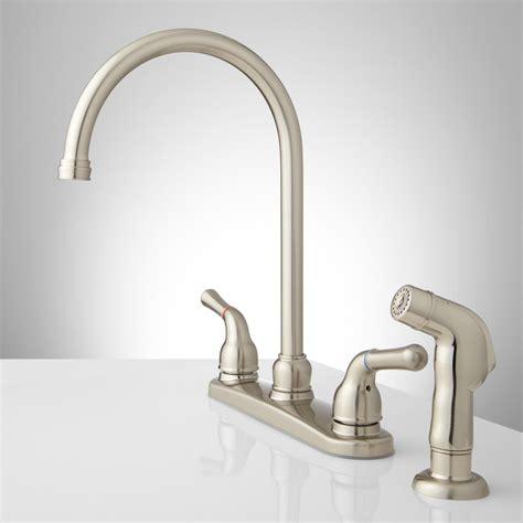 gooseneck faucet kitchen sanibel lever handle gooseneck kitchen faucet with spray kitchen