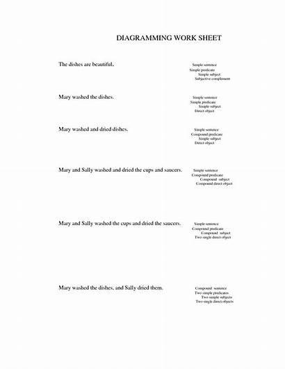 Diagramming Sentence Printable Sentences Worksheets Worksheet Practice
