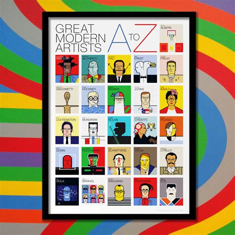 Great Modern Artists A To Z Poster By Andy Tuohy Design