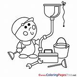 Plumber Coloring Drawing Pages Getdrawings Sketch Template sketch template