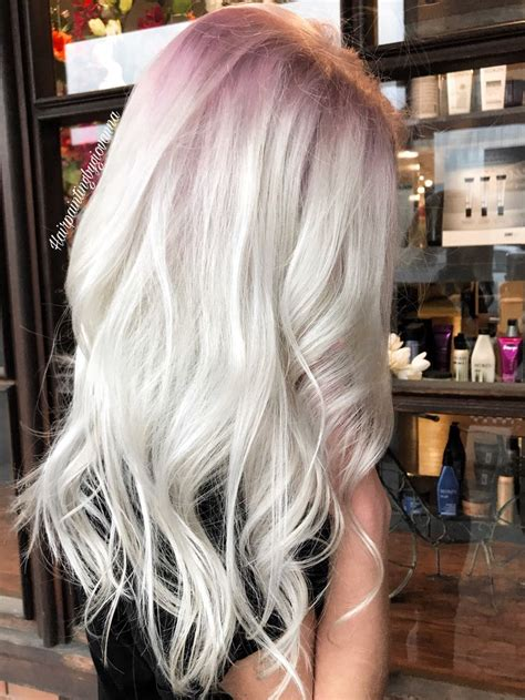 Is Platinum A Hair Color by Stunning Platinum Hair With A Subtle Gold Shadow Root