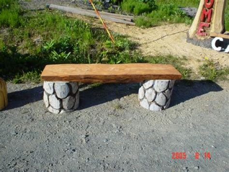 benches chainsaw carving chain  sculpture
