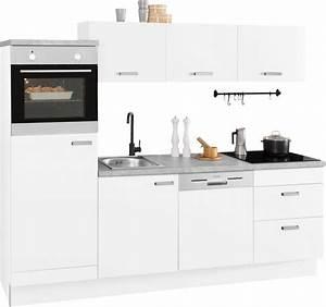 Küchenzeile 240 Cm Mit E Geräten : optifit k chenzeile parma mit e ger ten breite 240 cm online kaufen otto ~ Watch28wear.com Haus und Dekorationen