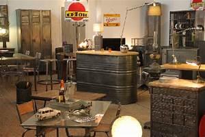 Meuble Industriel Vintage : vente mobilier restaurant occasion made crotoy ~ Nature-et-papiers.com Idées de Décoration