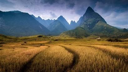 Vietnam Landscape Wallpapers Hill Nature Mountain Field