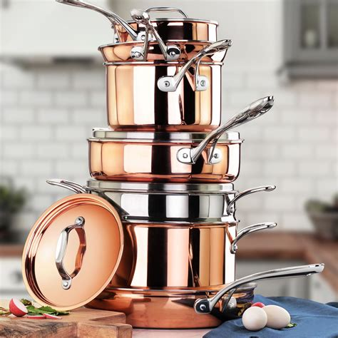 copper cookware pans pots sets induction professional touchofmodern chef roasting
