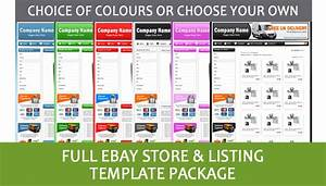 professional ebay store shop and listing template With ebay store design templates free